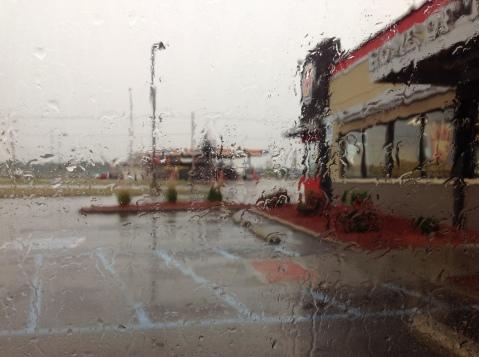 A Rainy day outside Burger King