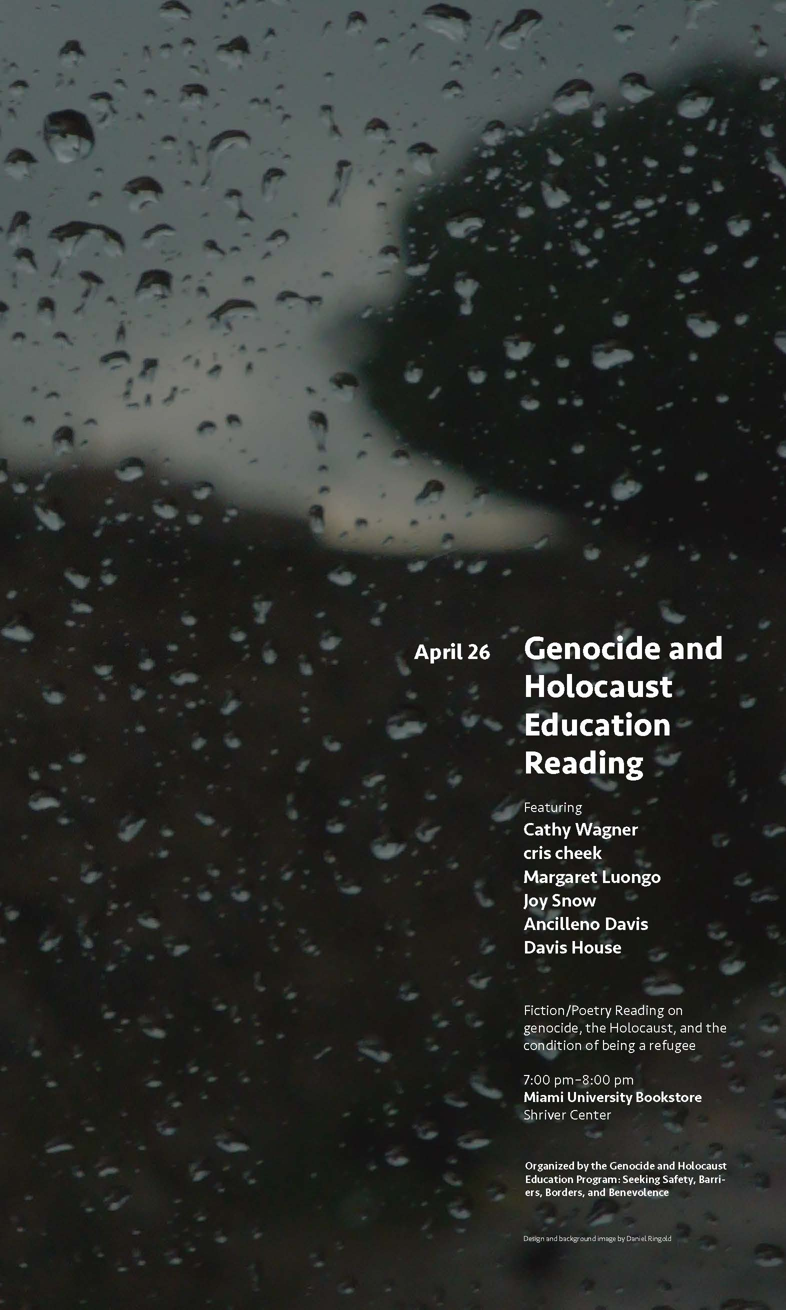 Genocide & Holocaust Reading flyer